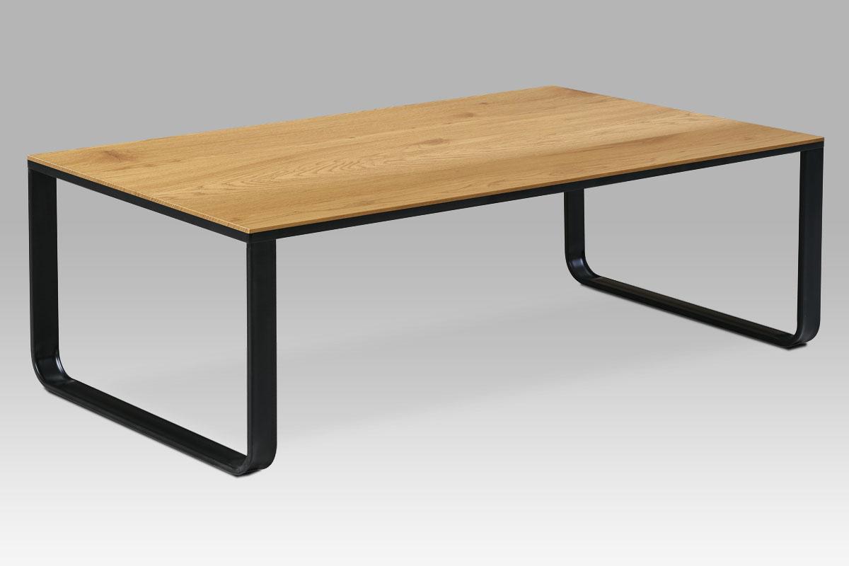 Autronic - Konferenční stolek 105x55x33, MDF divoký dub, kov černý mat - CT-1017 OAK
