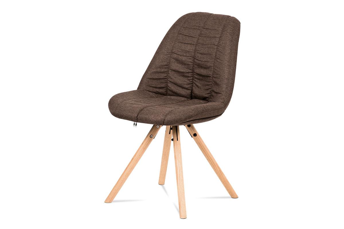 Autronic - Jídelní židle, hnědá látka, masiv dub - CT-121 BR2