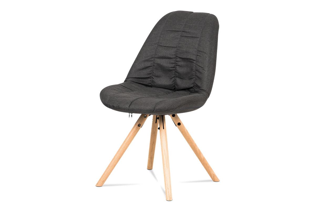 Autronic - Jídelní židle, šedá látka, masiv dub - CT-121 GREY2