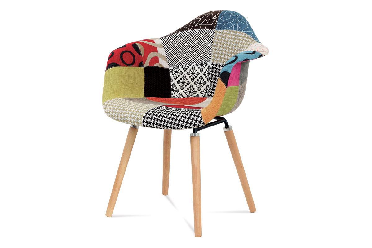 Autronic - Jídelní židle patchwork / masiv buk - CT-723 PW2
