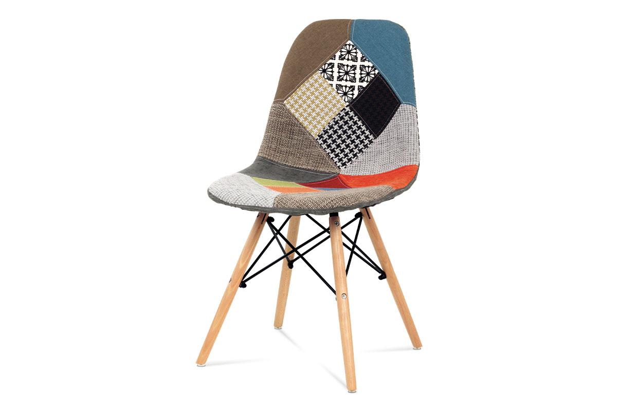 Autronic - Jídelní židle patchwork / masiv buk - CT-724 PW2