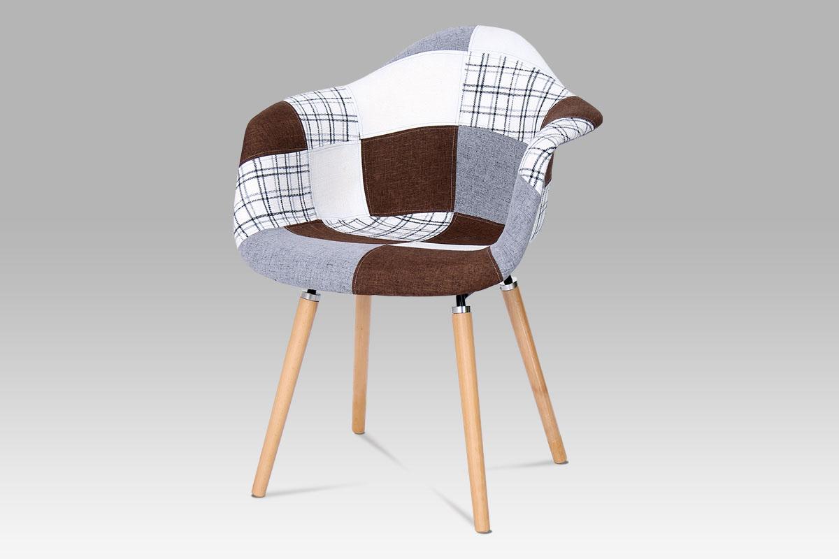 Autronic - Jídelní židle patchwork / masiv buk - CT-726 PW2