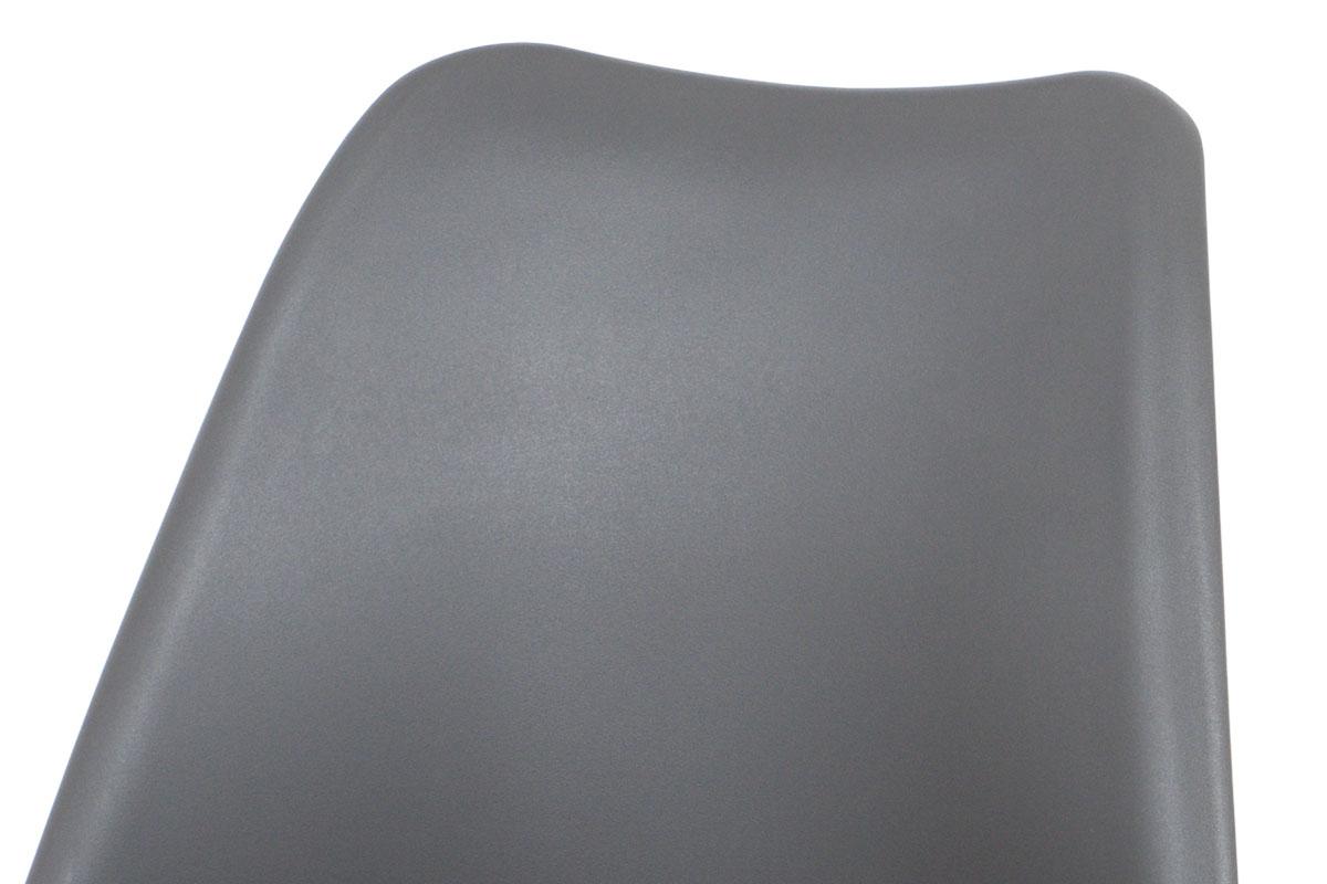 Jídelní židle šedý plast / šedá koženka / natural - CT-741 GREY