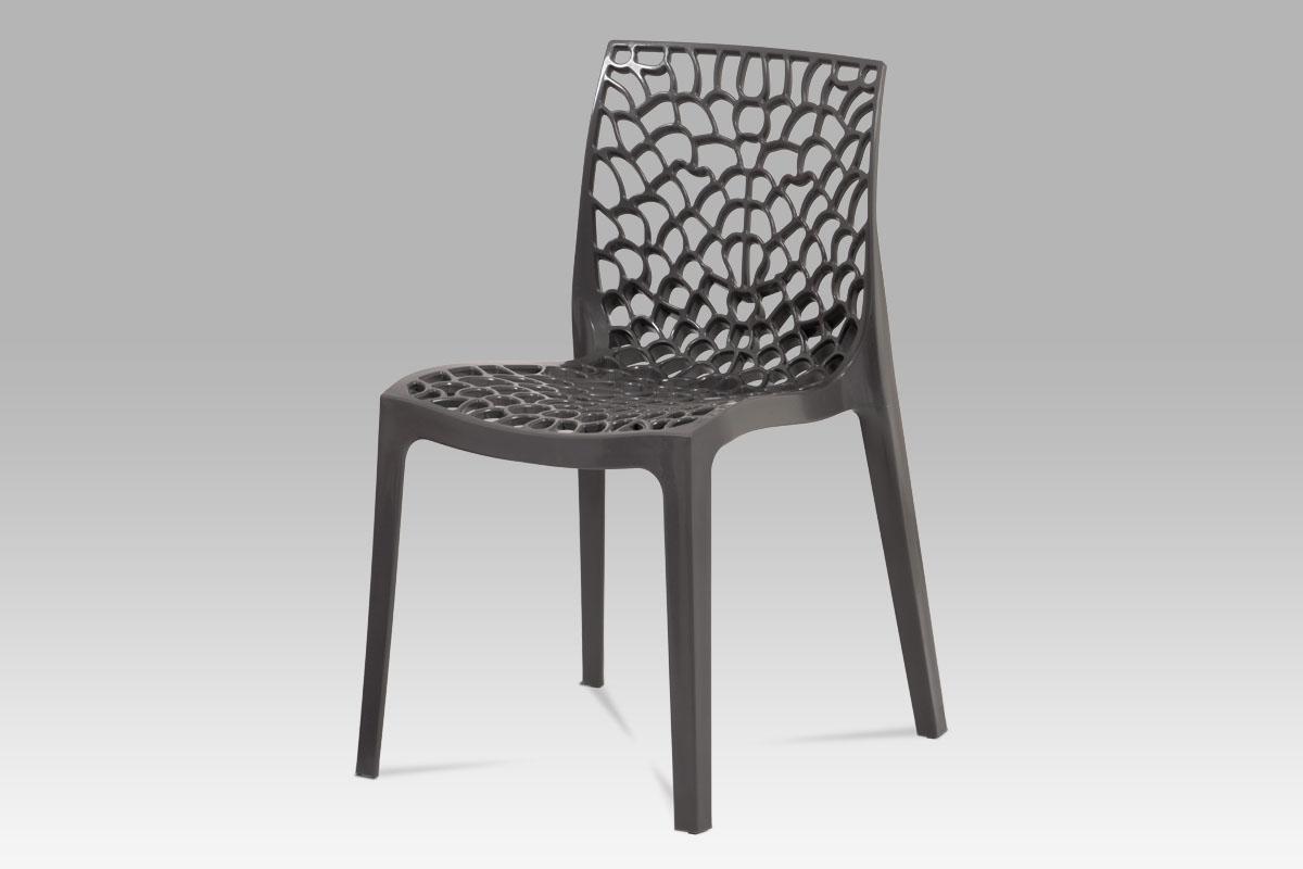 Autronic - Jídelní židle, šedá plast - CT-820 GREY