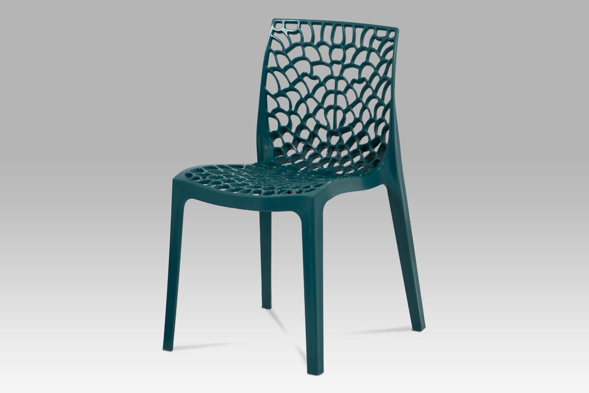 Autronic - Jídelní židle, petrolejová plast - CT-820 PET