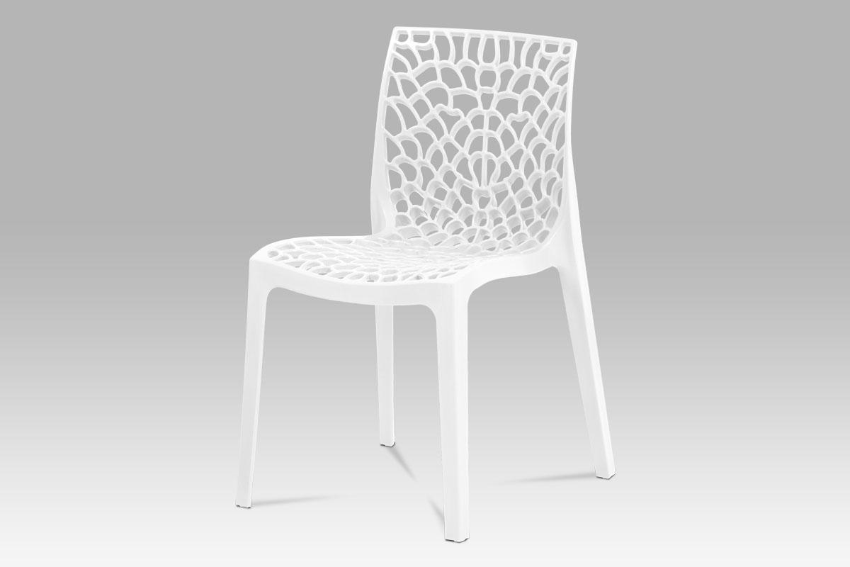 Autronic - Jídelní židle, bílá plast - CT-820 WT