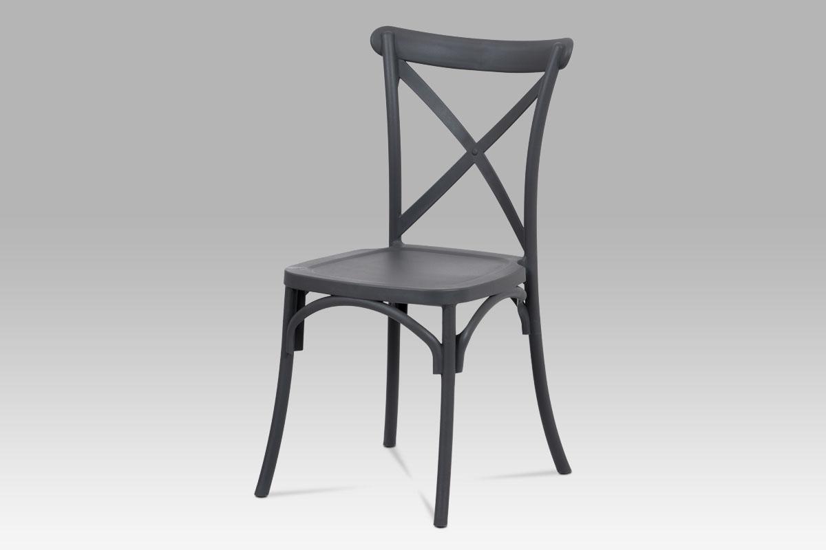 Autronic - Jídelní židle, šedá plast - CT-830 GREY