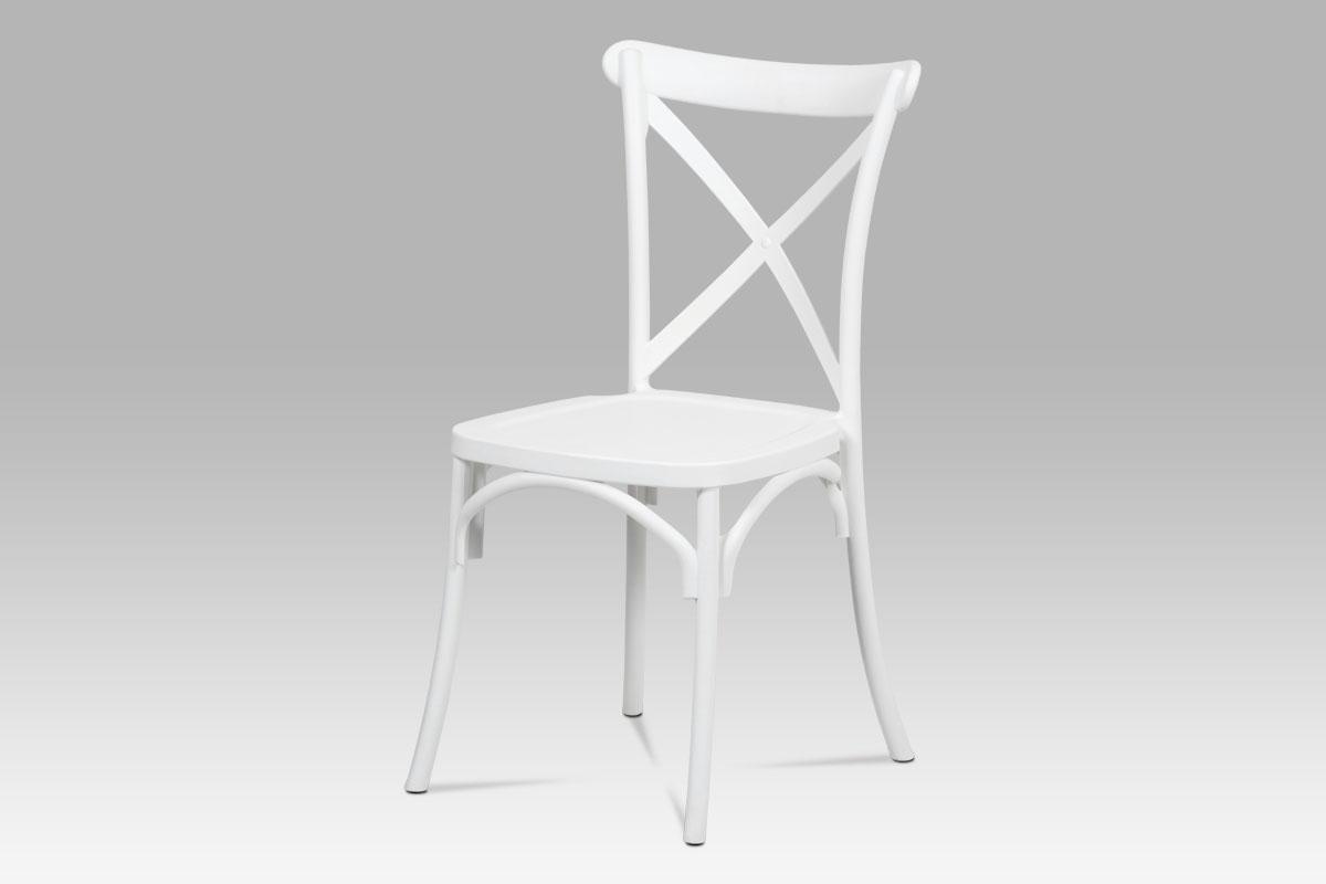 Autronic - Jídelní židle, bílá plast - CT-830 WT