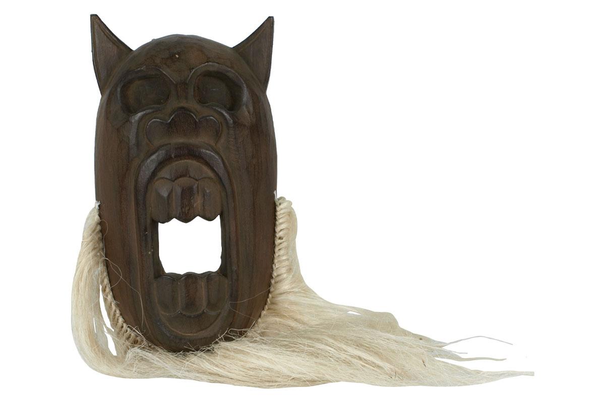 Autronic - Dřevěná maska s vlasy - CT27