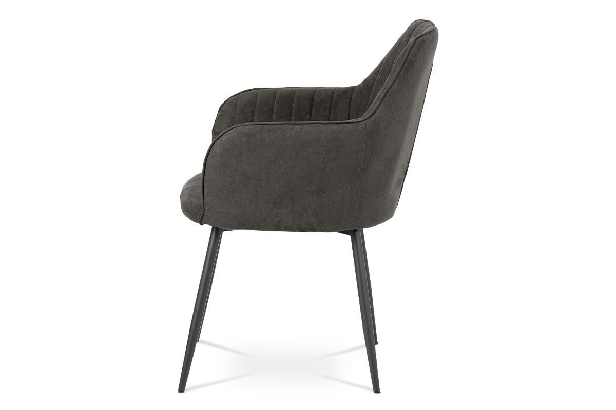Jídelní židle, šedá látka, kov šedá mat - DCH-222 GREY3