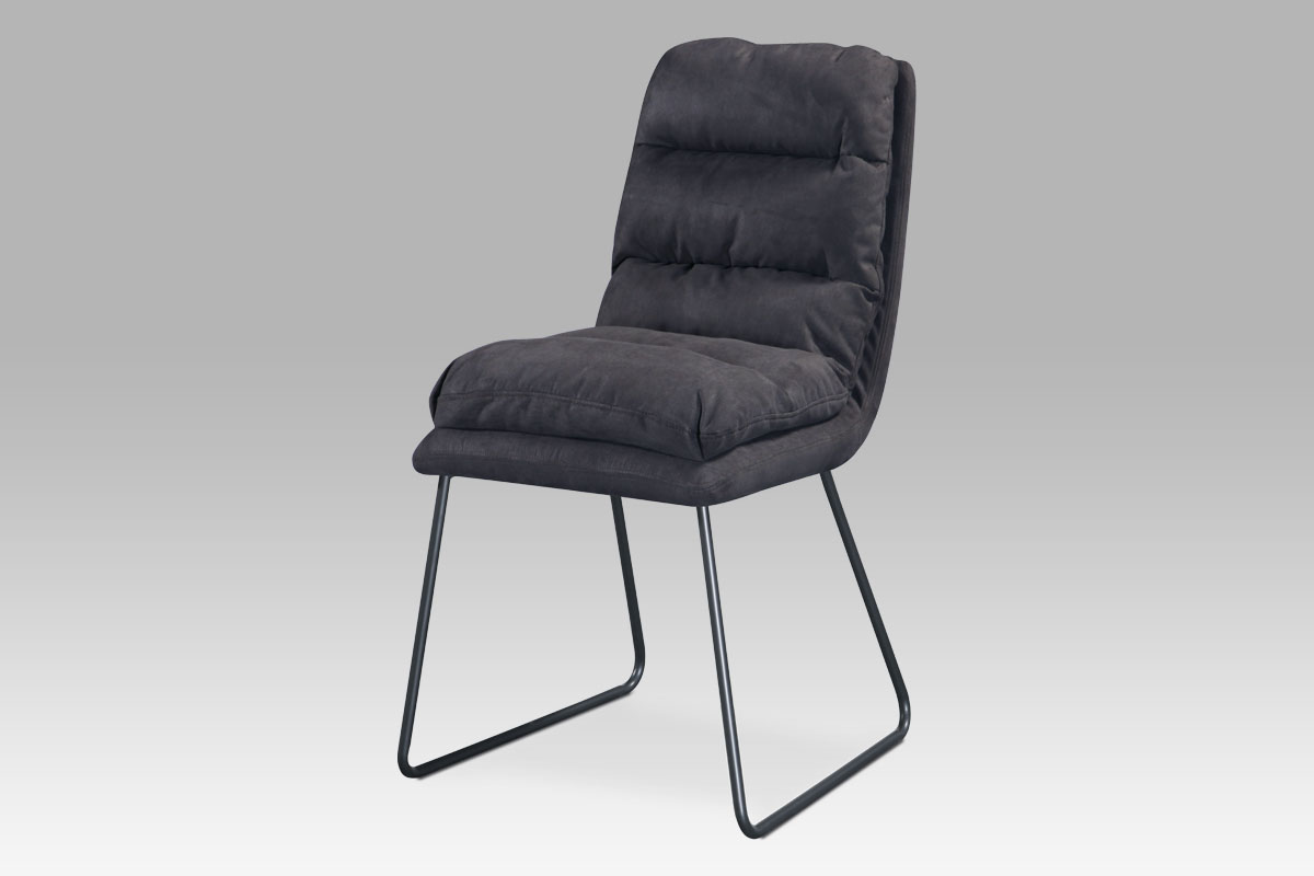 Autronic - Jídelní židle, šedá látka, kov šedý mat - DCH-255 GREY3