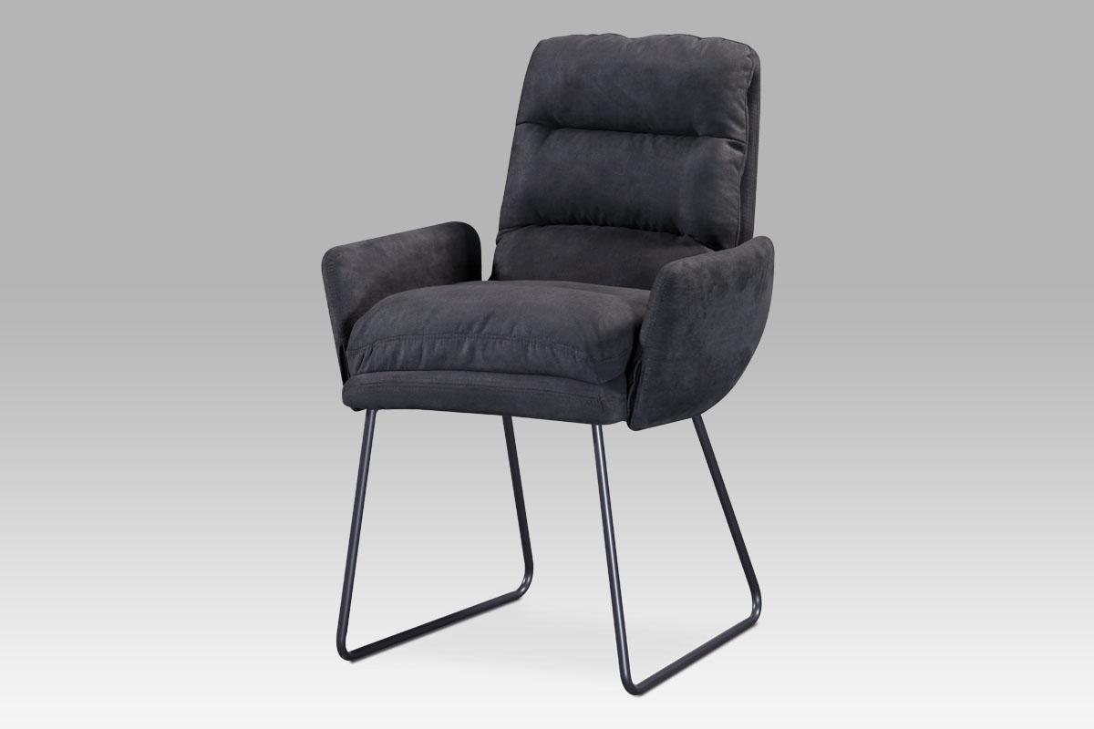 Autronic - Jídelní židle, šedá látka, kov šedá mat - DCH-256 GREY3