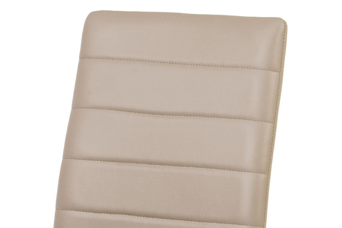 Jídelní židle, koženka cappuccino / šedý lak - DCL-102 CAP