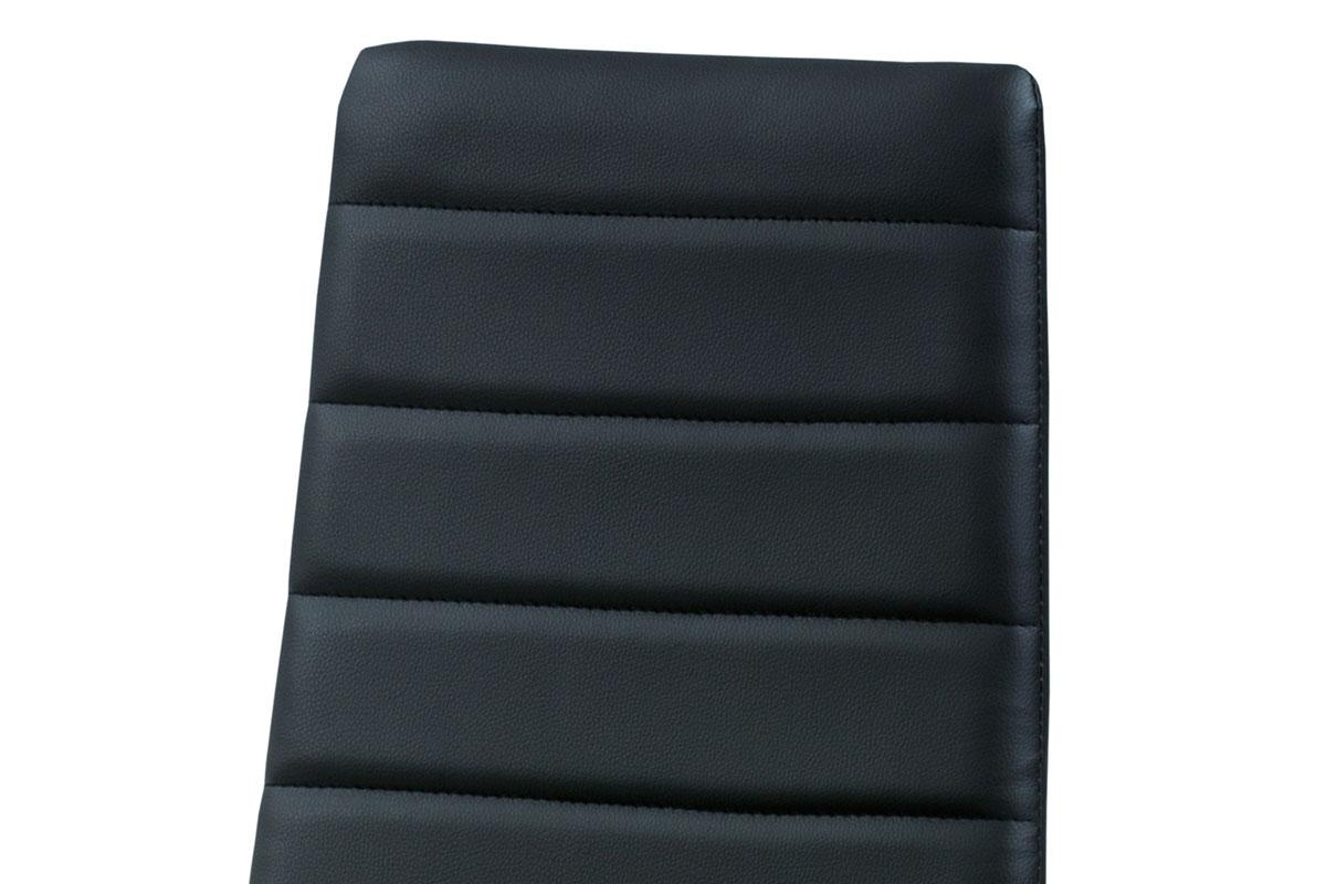 Jídelní židle koženka černá / šedý lak - DCL-117 BK