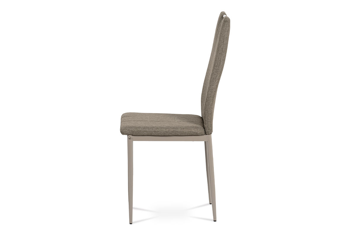 Jídelní židle, cappuccino látka, kov cappuccino lesk - DCL-393 CAP2