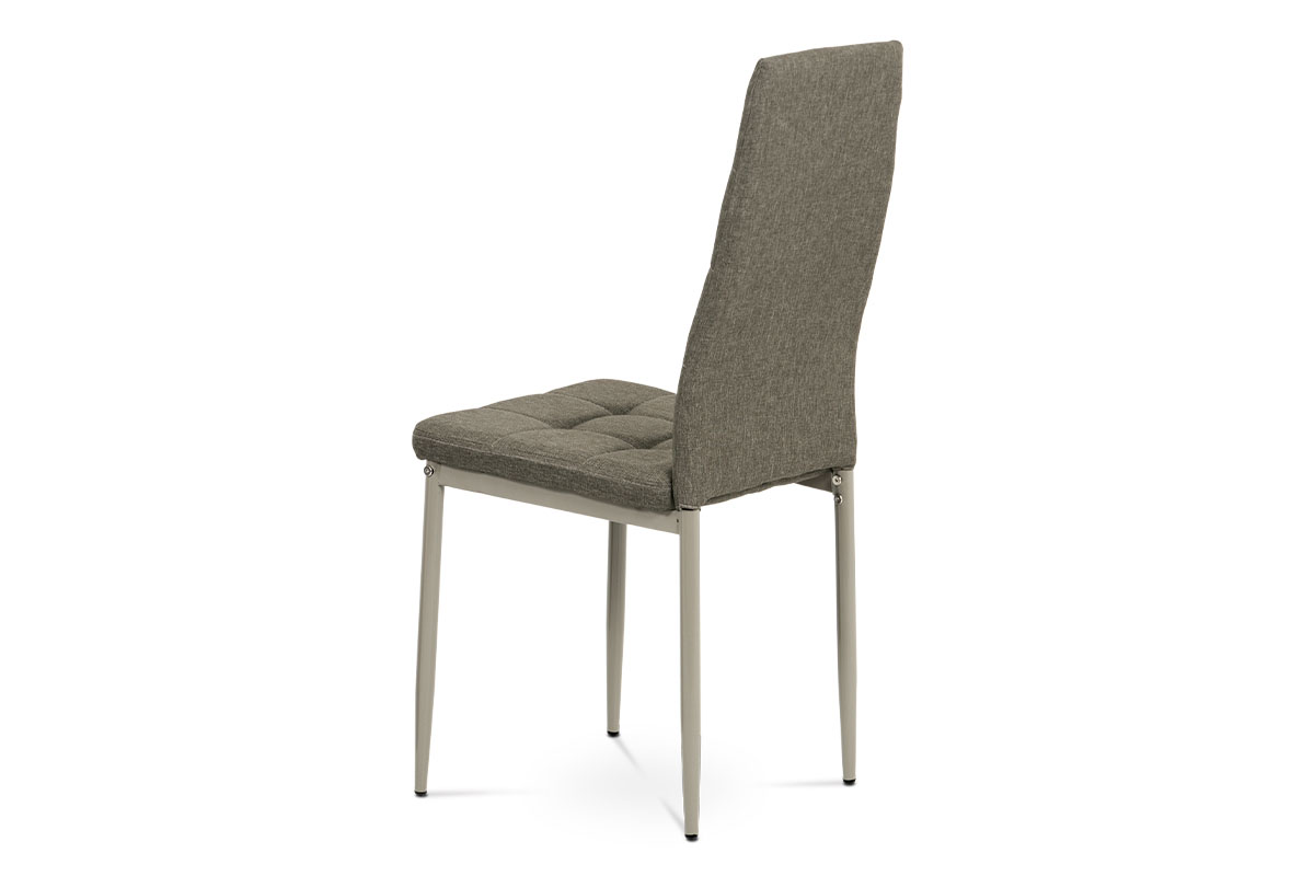 Jídelní židle, cappuccino látka, kov matný cappuccino - DCL-397 CRM2