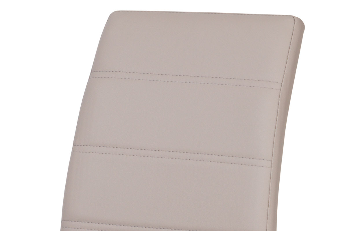Jídelní židle chrom / koženka lanýžová - DCL-407 LAN