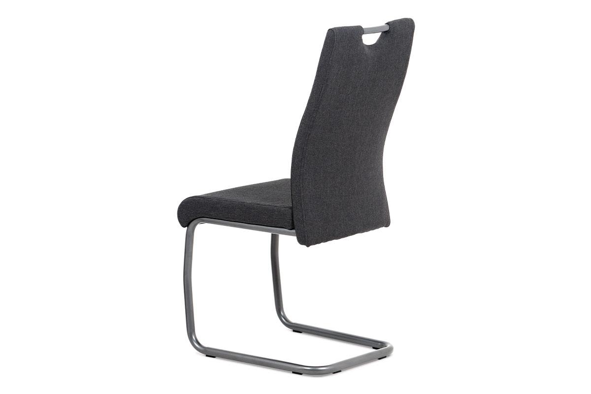 Jídelní židle, šedá látka, kov matná antracit - DCL-417 GREY2