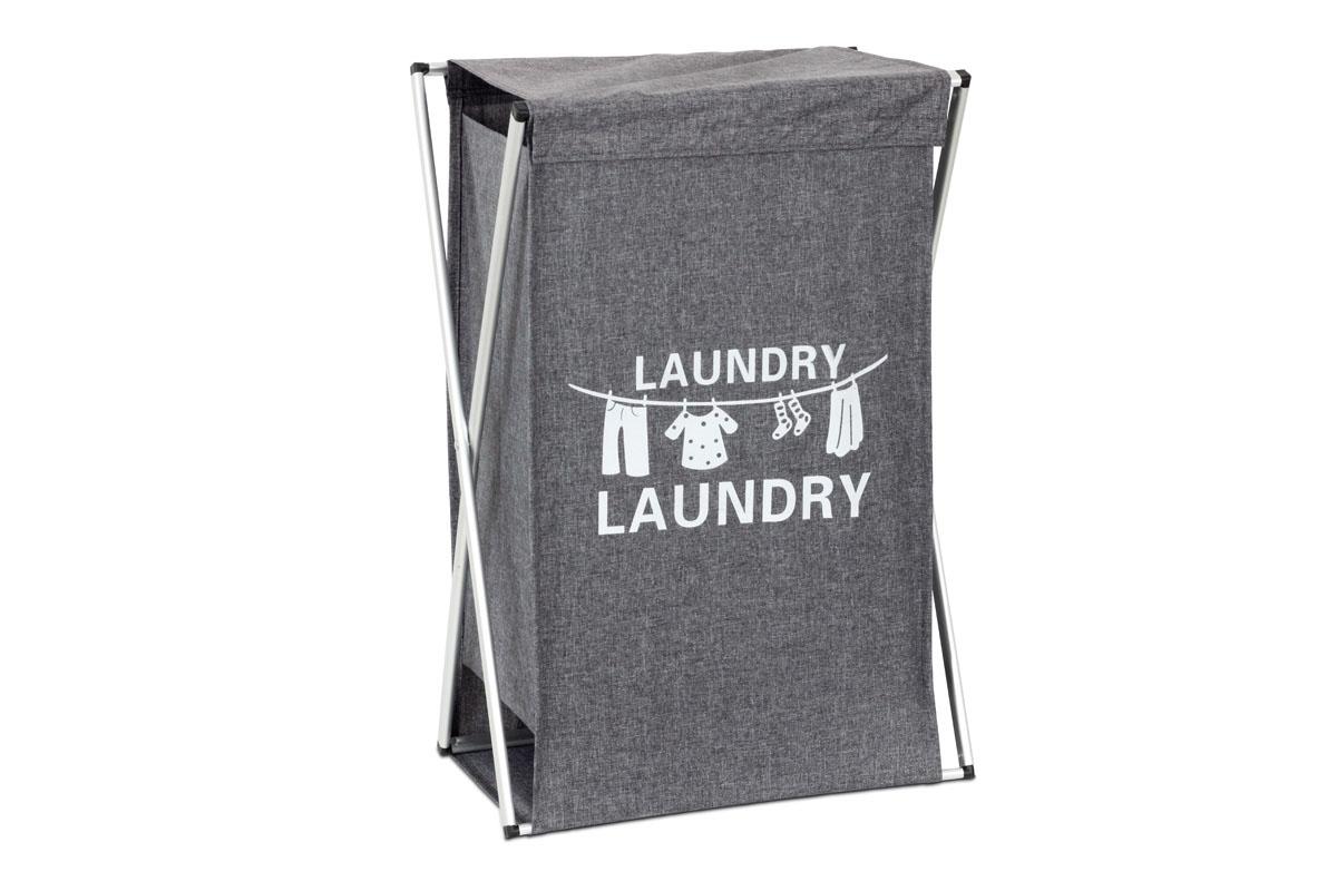 Autronic - Koš na prádlo látkový, barva šedá - DD3106