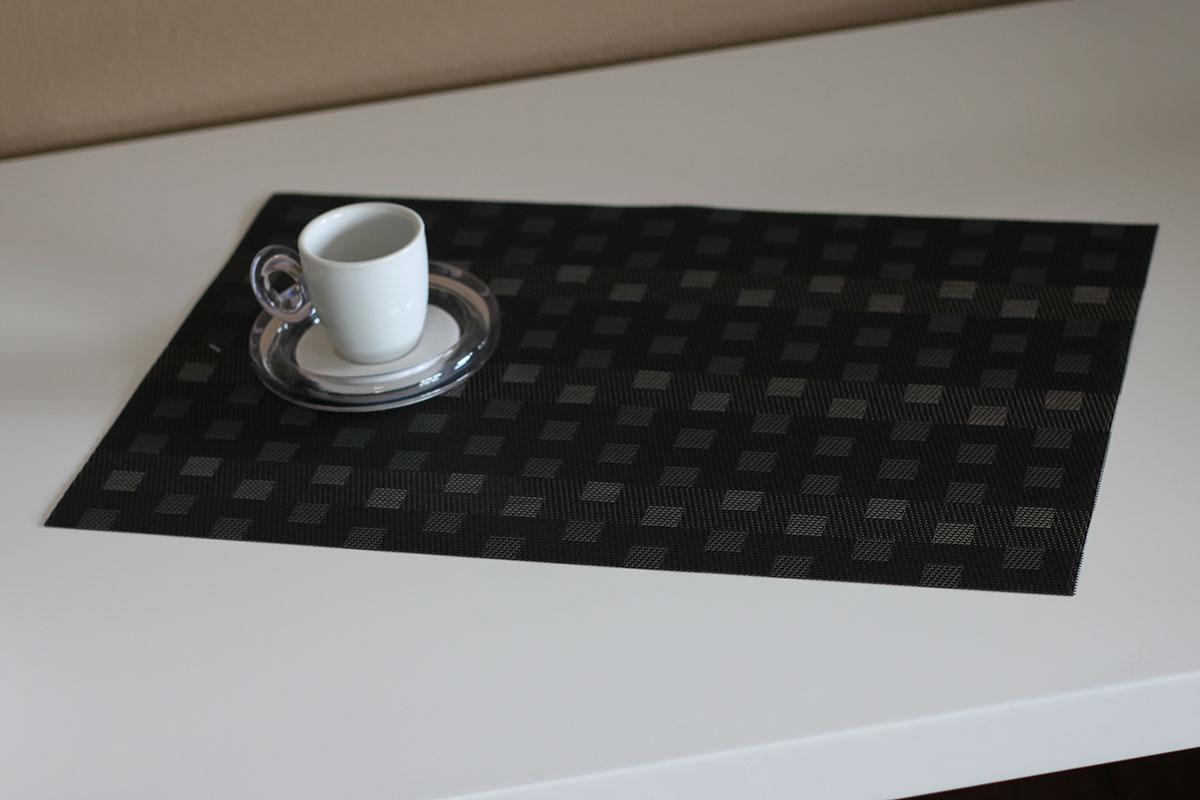 Autronic - Prostírání plastové - černo-šedivé - DK5006