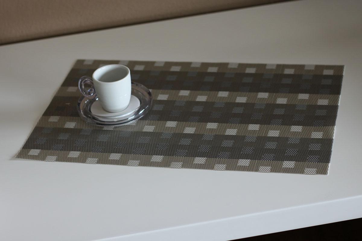 Autronic - Prostírání plastové - šedivo-béžové - DK5007