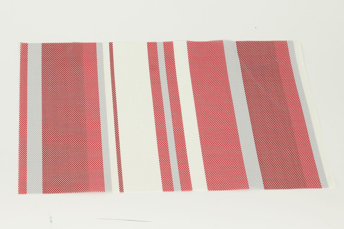 Autronic - Prostírání plastové - červené s proužky - DK5015