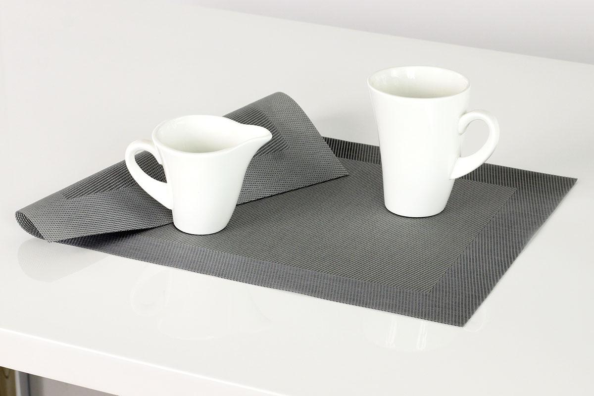 Autronic - Prostírání plastové 30x45cm - barva stříbrná - DK5024