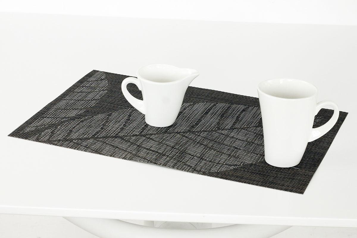 Autronic - Prostírání plastové -šedo-hnědý list - DK5030
