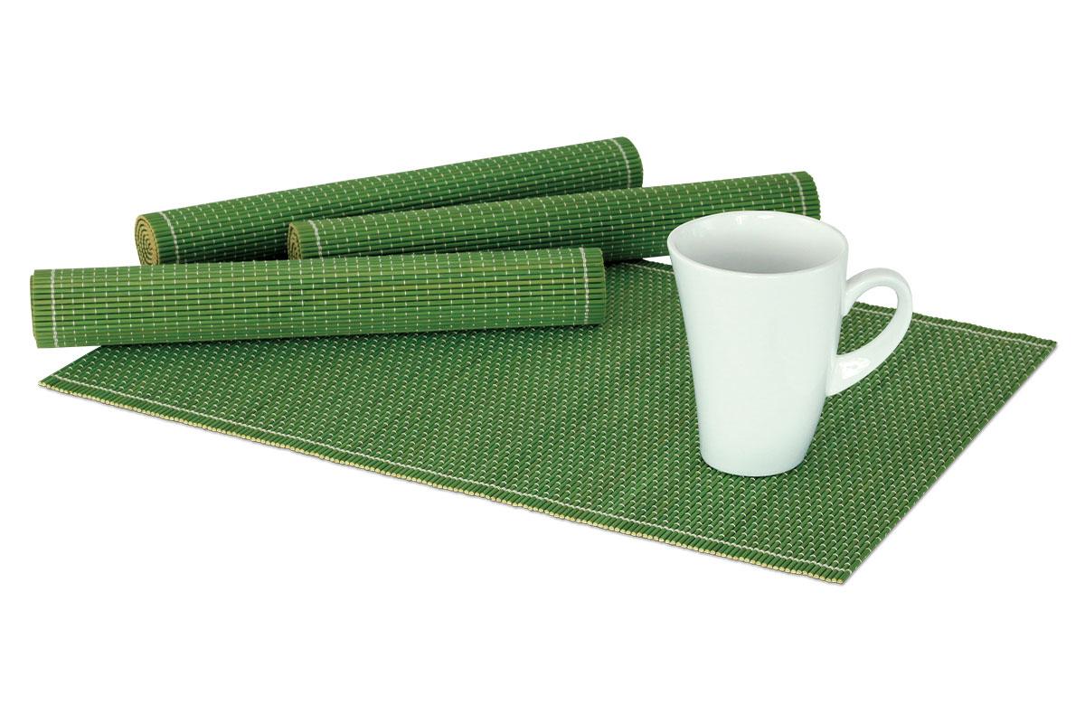 Autronic - Prostírání bambusové, sada 4ks. Barva Zelená. - DK5041
