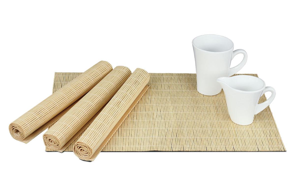 Autronic - Prostírání bambusové, sada 4ks. Barva Přírodní. - DK5043