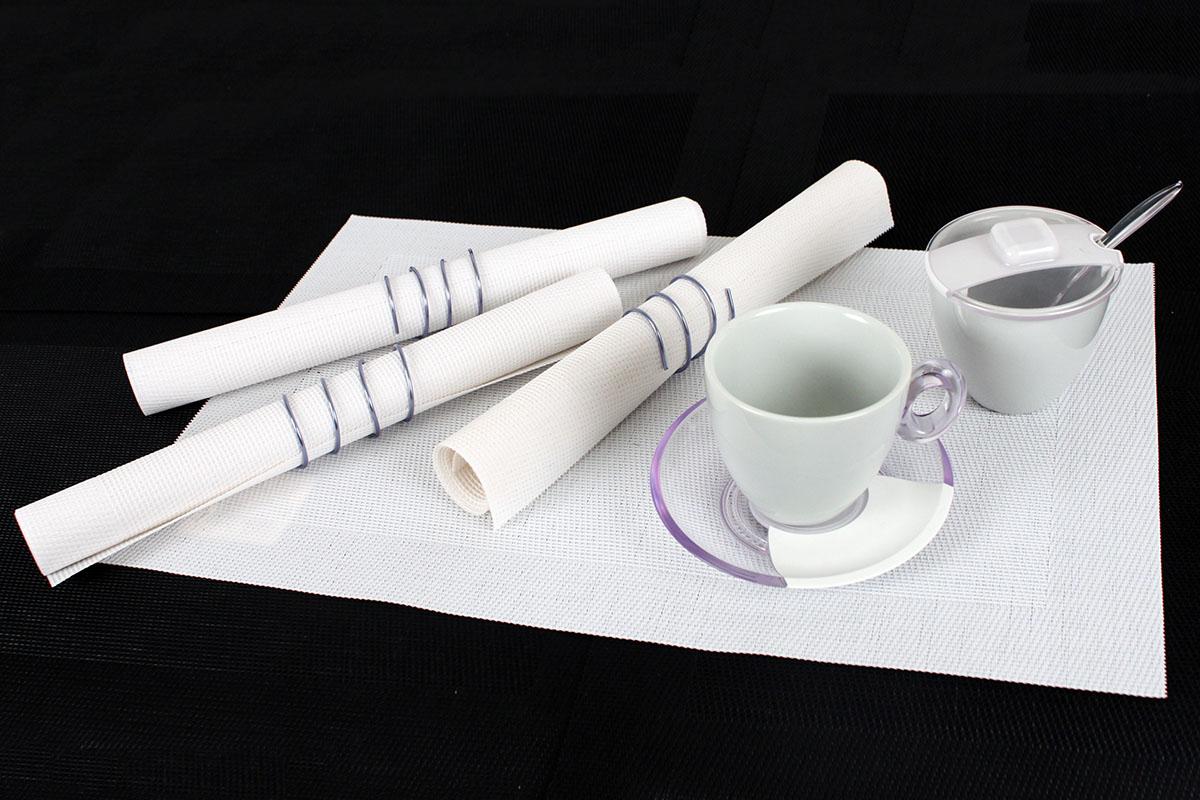 Autronic - Prostírání plastové - bílé 30x45cm - DK688653