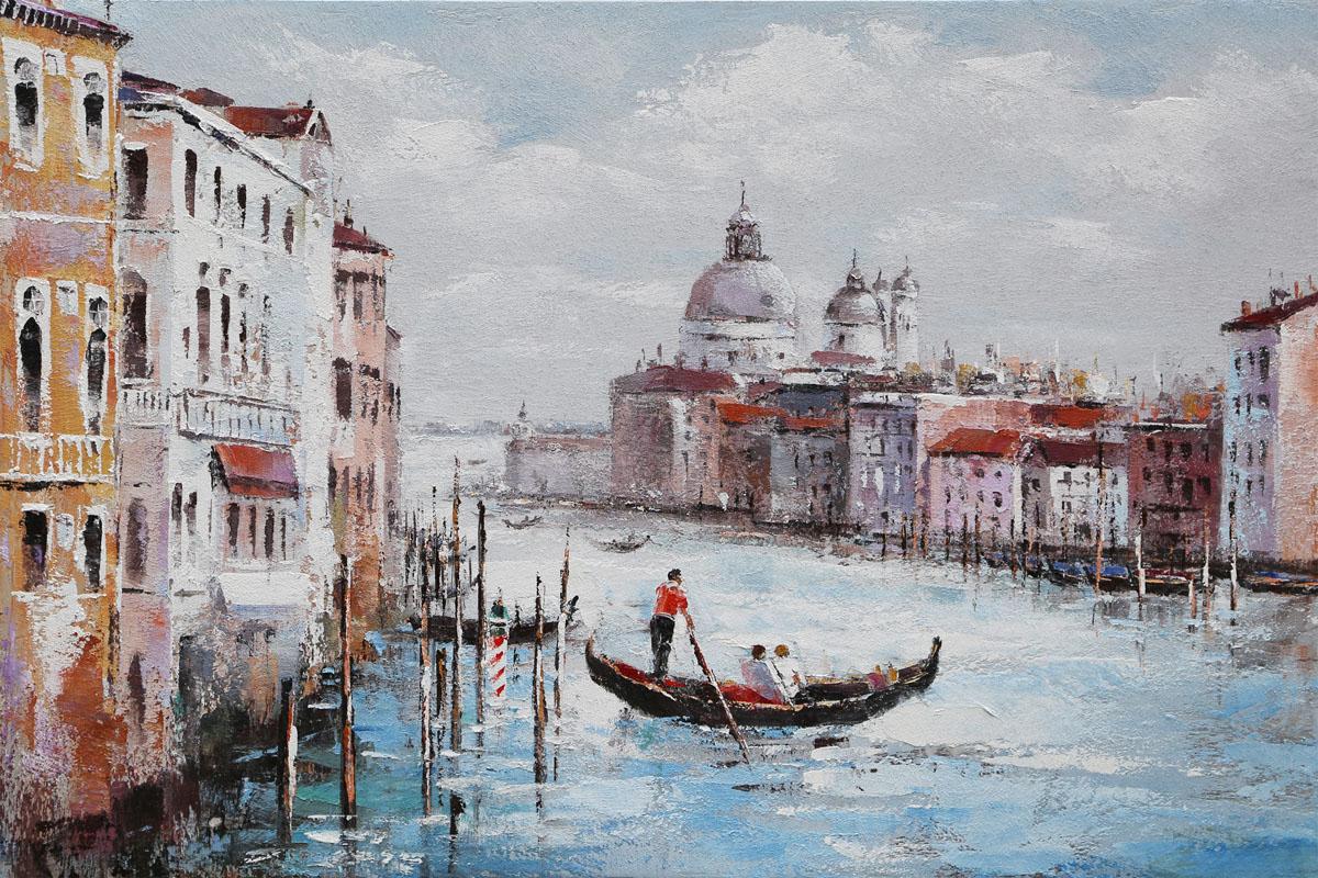 Autronic - Obraz - Benátky, ruční olejomalba na plátně - DOR046