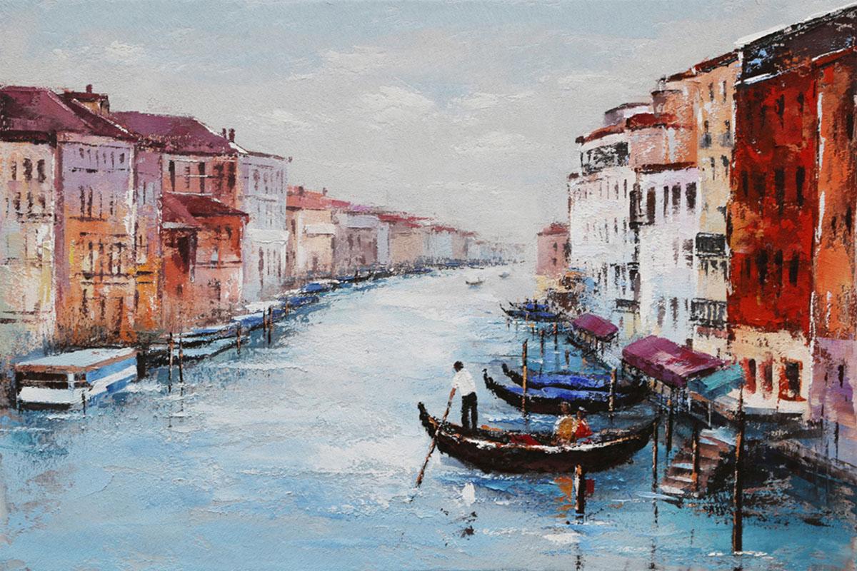 Autronic - Obraz - Benátky, ruční olejomalba na plátně - DOR047