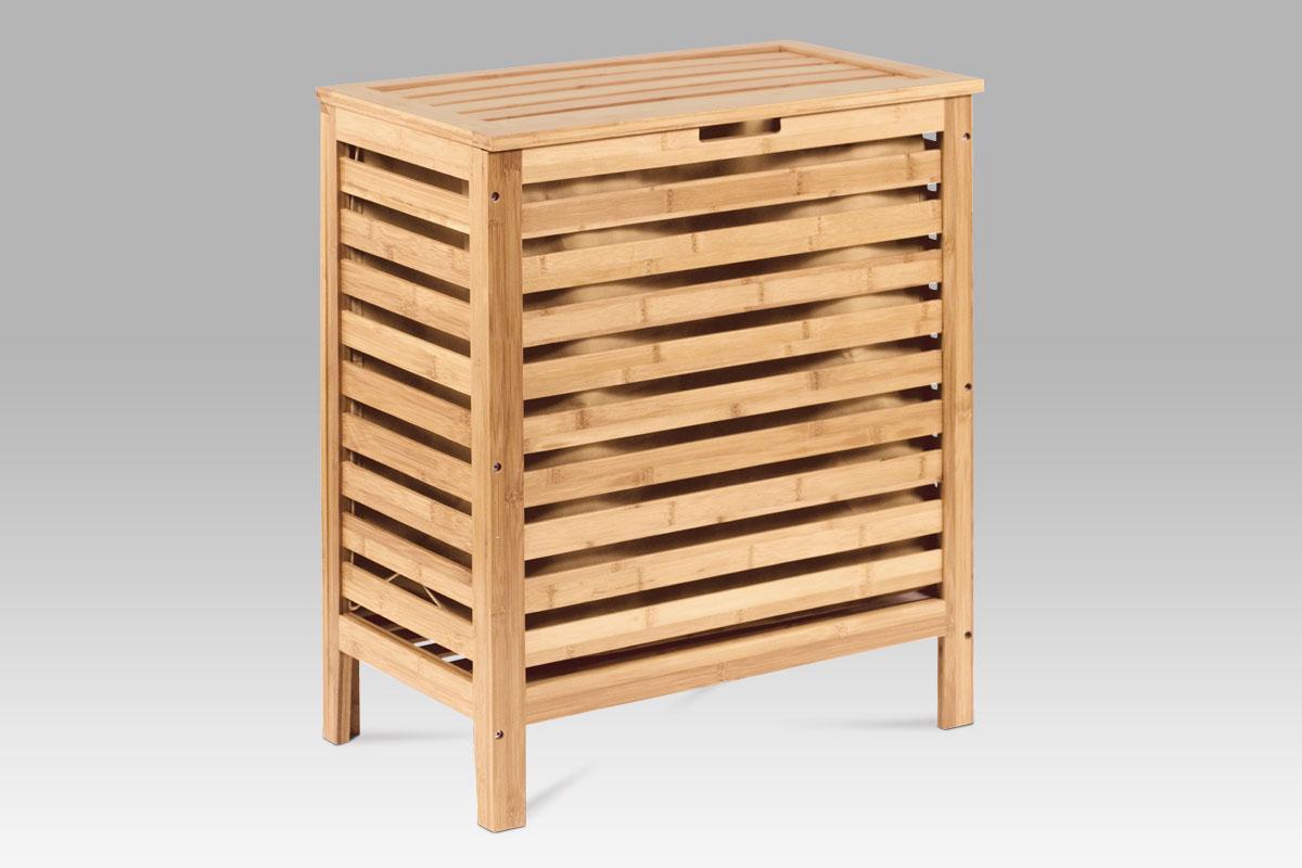 Autronic - Koš na prádlo, lakovaný bambus - DR-014