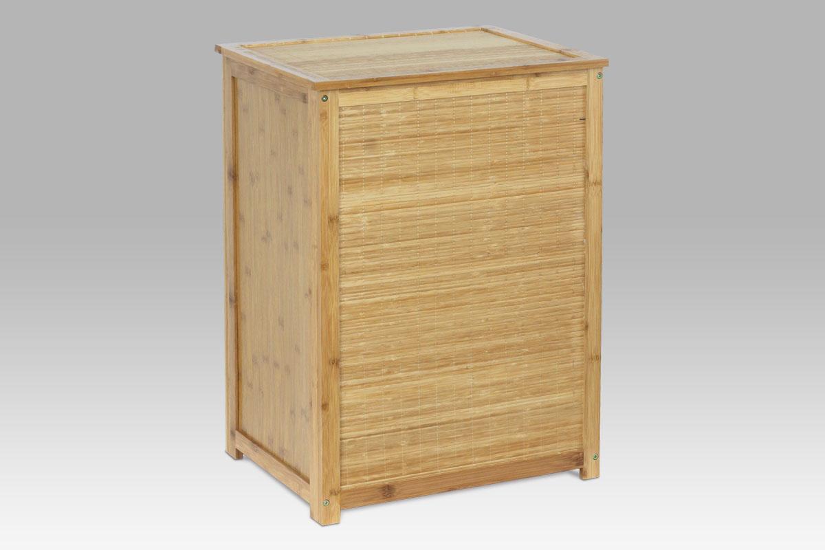 Autronic - Koš na prádlo bambusový s látkovou vložkou - DR-030