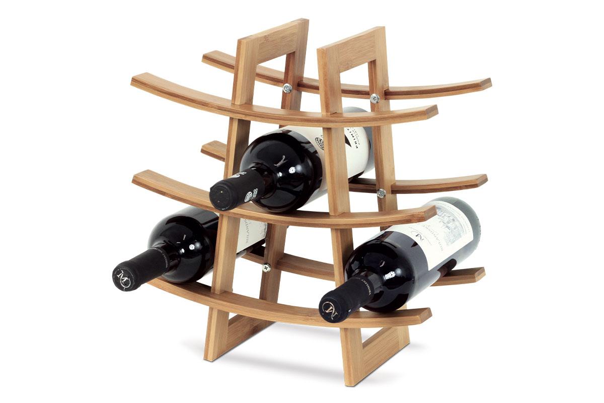 Autronic - Stojan na víno, bambusový - DR-040