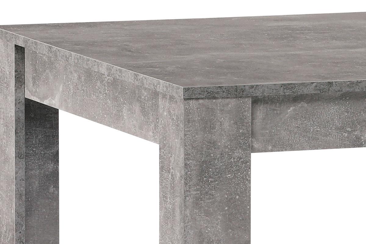 Jídelní stůl 160x90x74 cm, MDF, lamino dekor beton - DT-P160 BET
