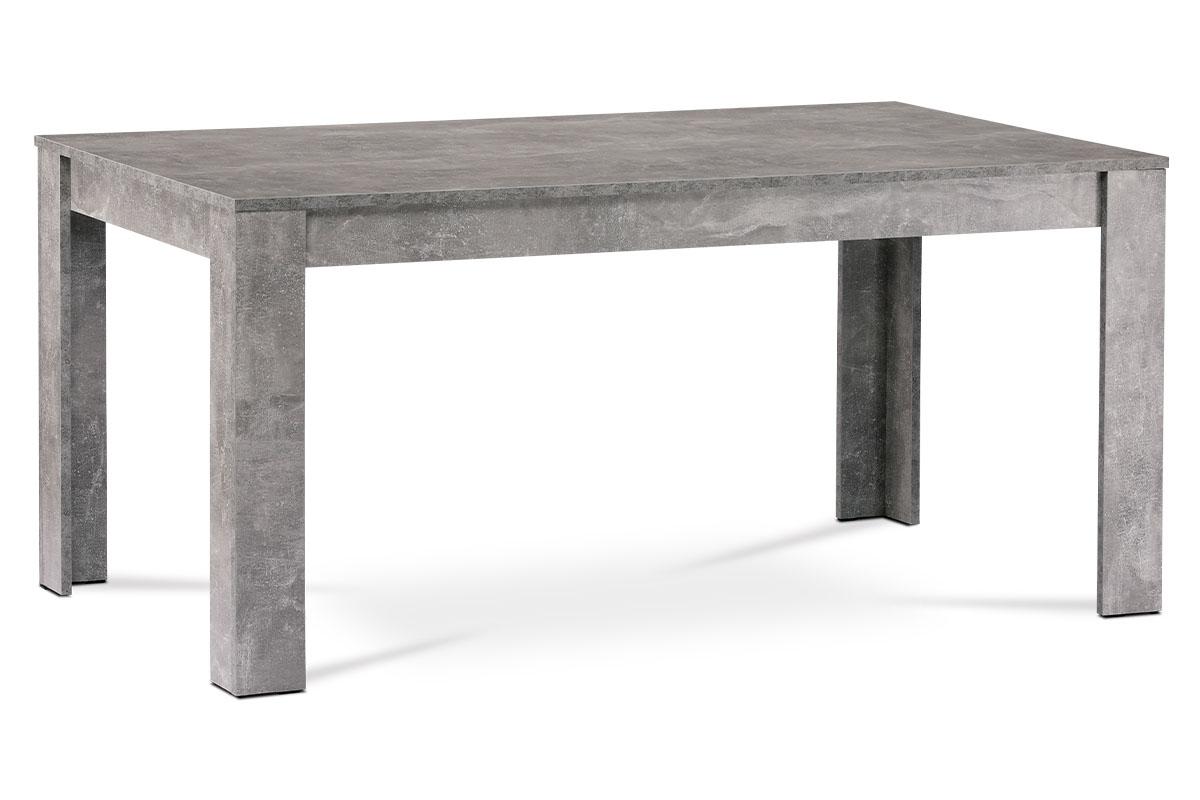 Autronic - Jídelní stůl 160x90x74 cm, MDF, lamino dekor beton - DT-P160 BET