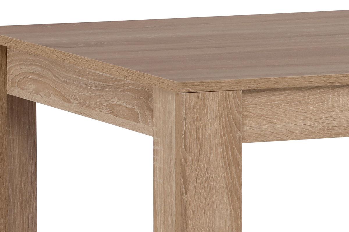 Jídelní stůl 160x90x74 cm, MDF, lamino 3D dekor dub sonoma - DT-P160 SON