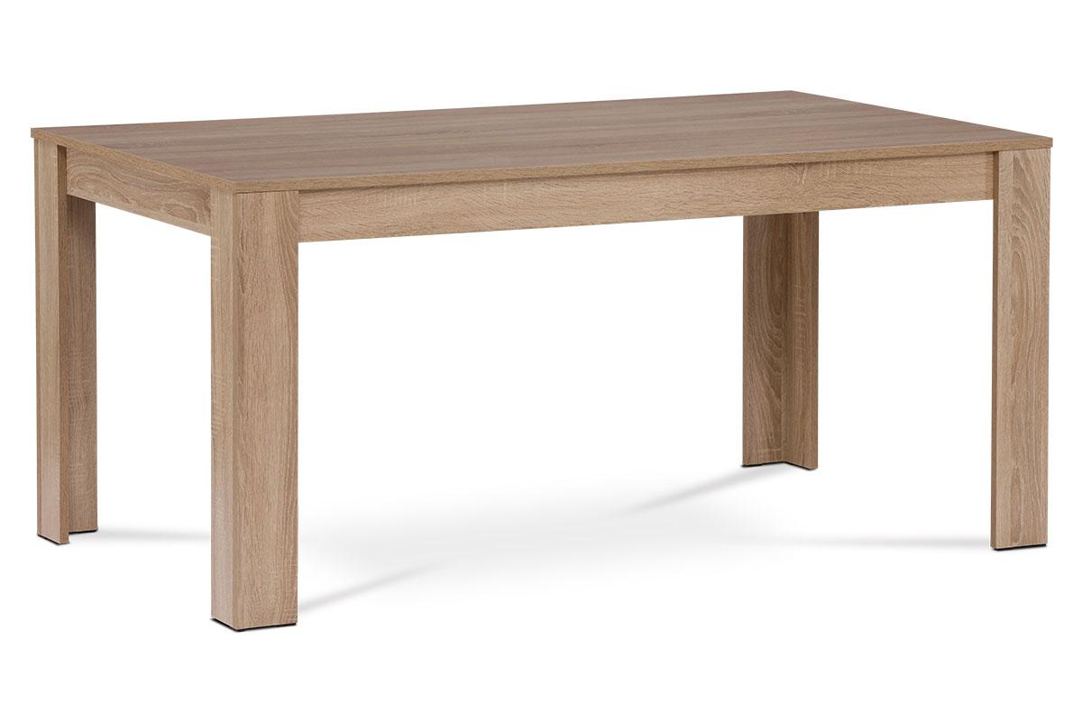 Autronic - Jídelní stůl 160x90x74 cm, MDF, lamino 3D dekor dub sonoma - DT-P160 SON