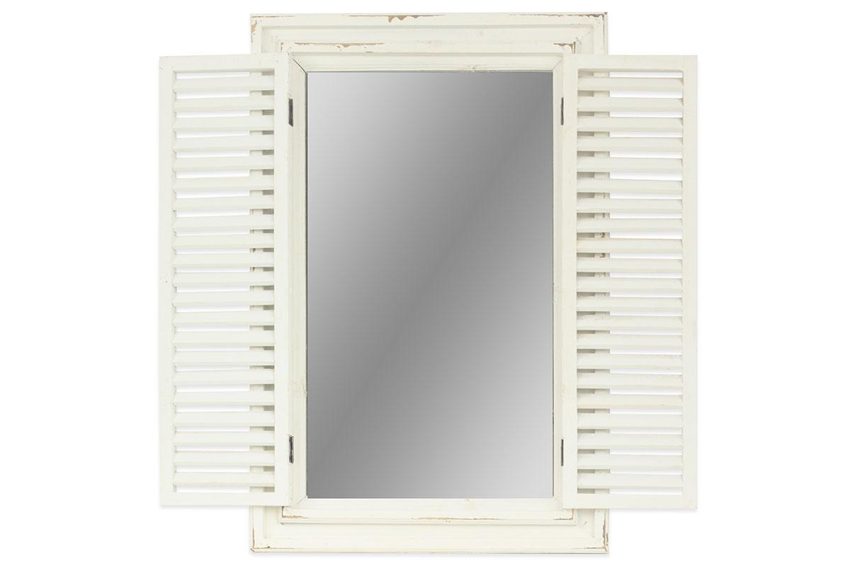 Autronic - Zrcadlo v dřevěném rámu s okenicemi - DT1626