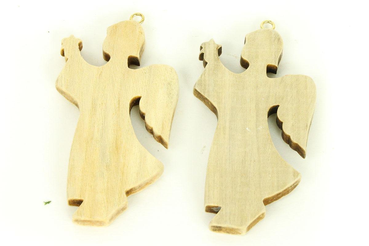 Anděl dřevěná dekorace, 2 kusy v sáčku, cena z a1 sáček