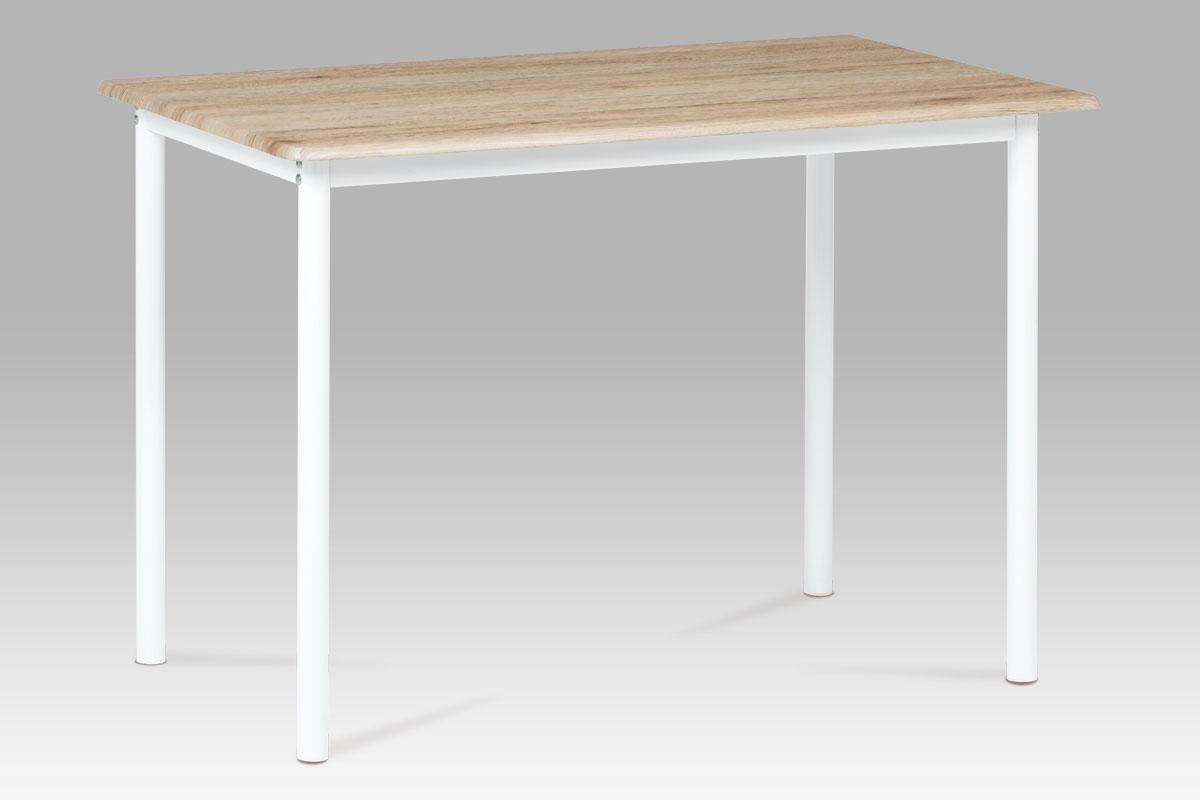Autronic - Jídelní stůl 110x70 cm, dub san remo / bílý lak - GDT-222 SRE