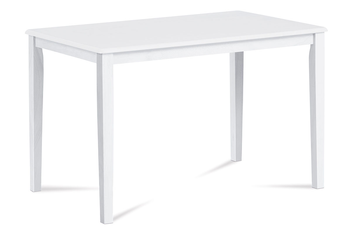Autronic - Jídelní stůl 120x75 cm, bílá - GEPARD WT