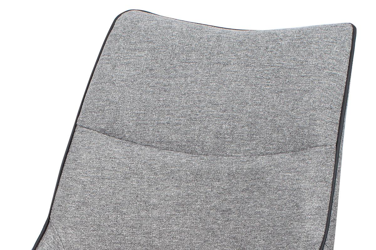 Jídelní židle - látka šedá, černá paspule, kovová podnož, černý matný lak - HC-021 GREY2