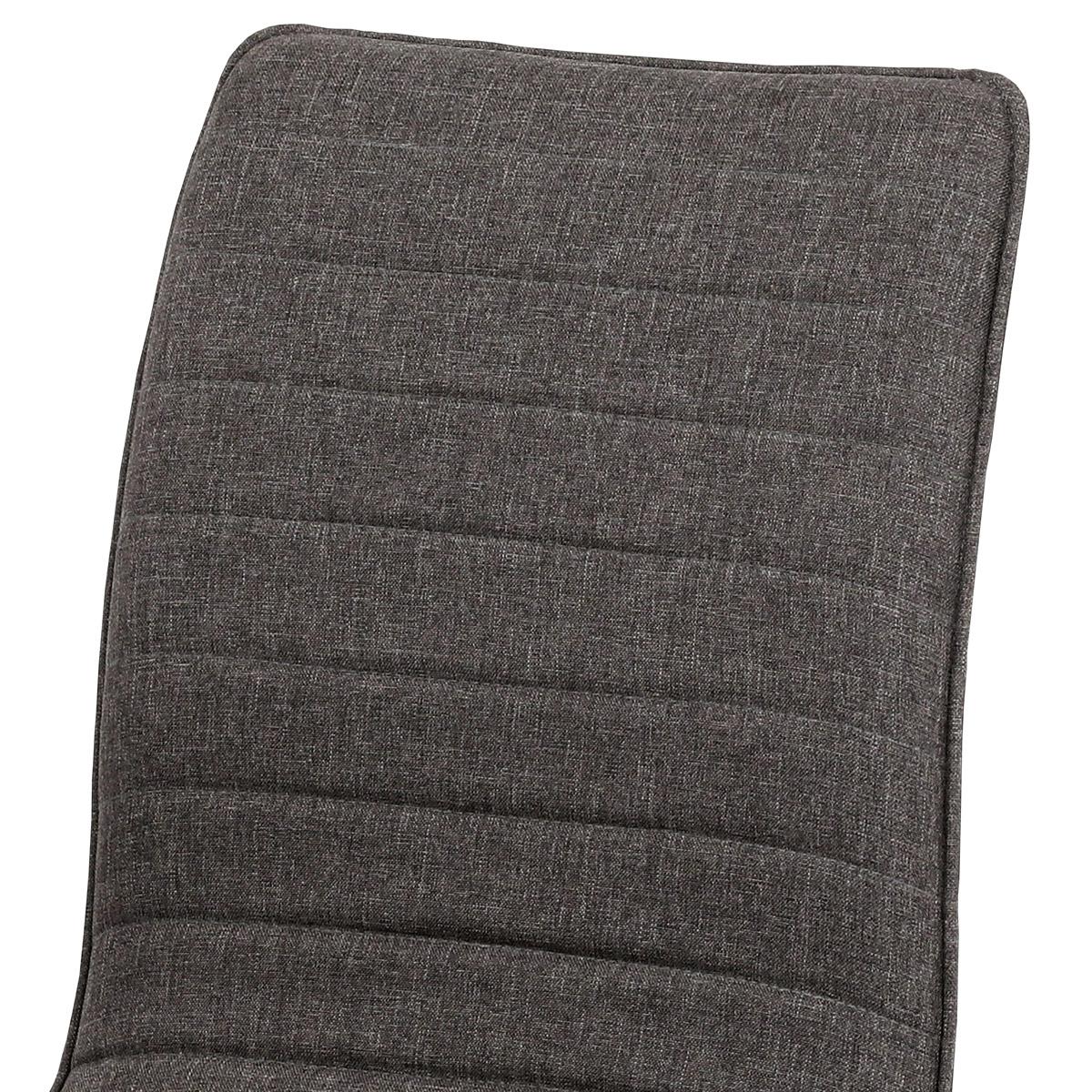 Jídelní židle, coffee látka, kovová 4 nohá podnož, 3D dekor dub - HC-368 COF2