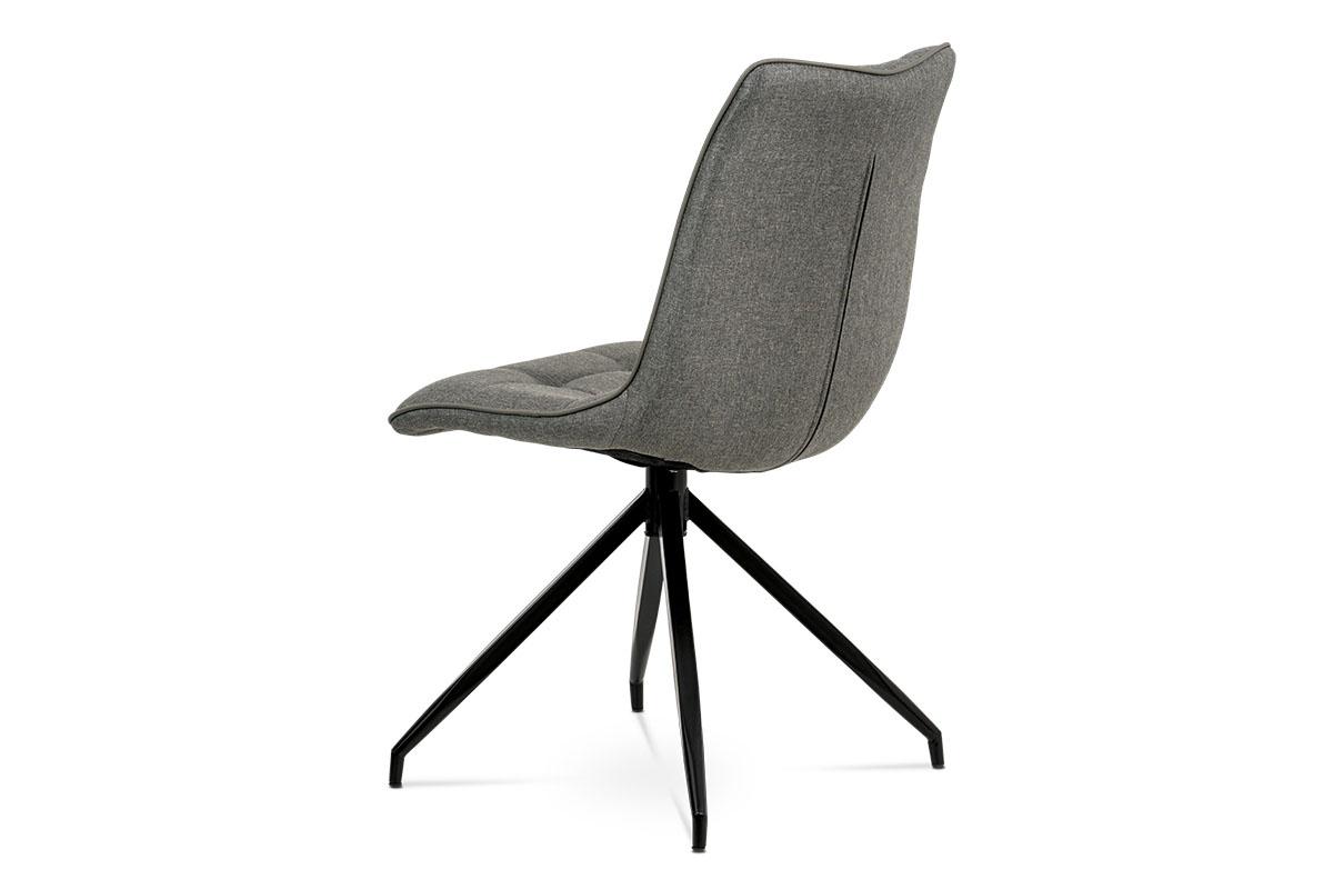 Jídelní židle, hnědá látka + ekokůže, kov antracit - HC-396 COF2
