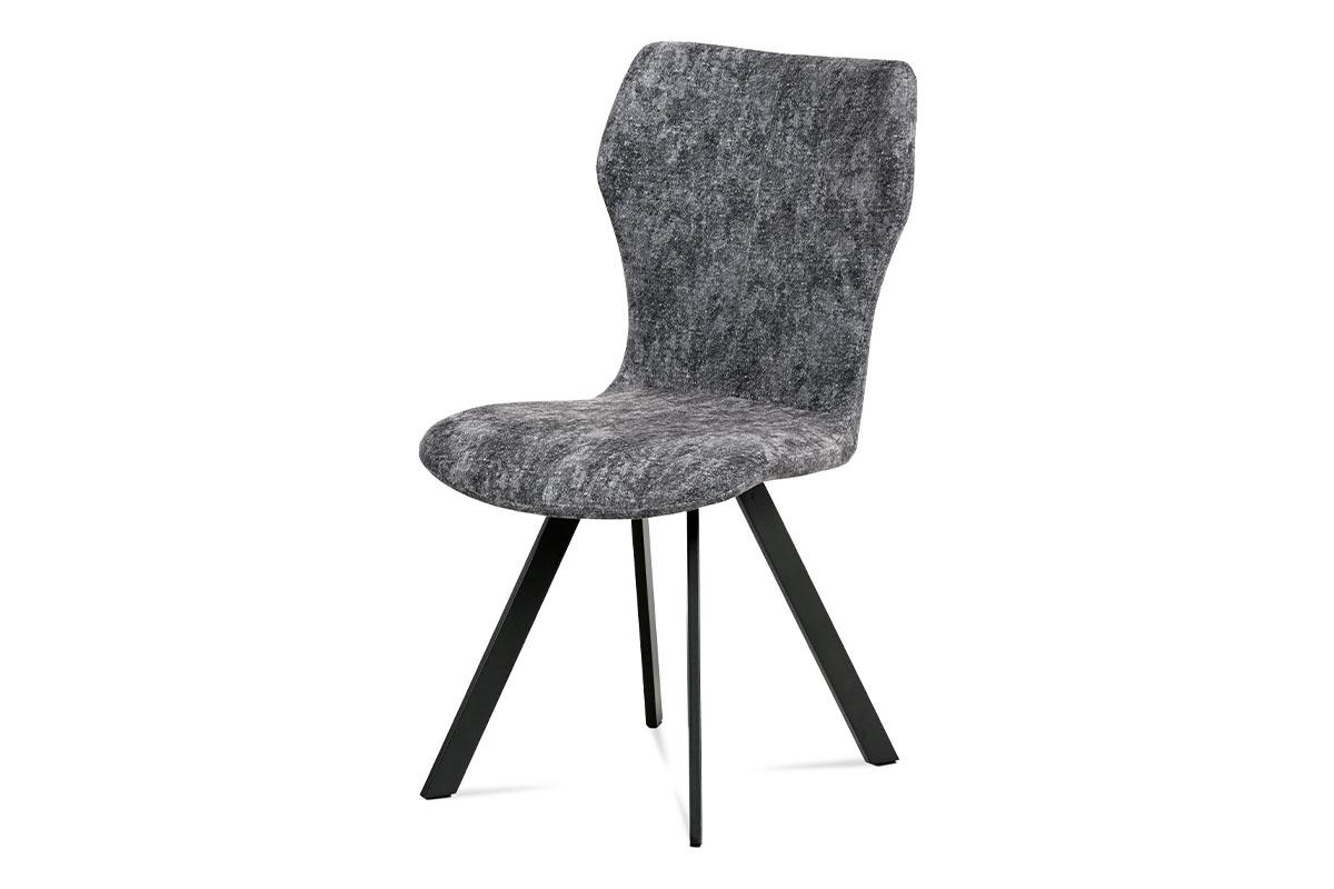 Autronic - Jídelní židle, šedá látka, antracit kov - HC-690 GREY2