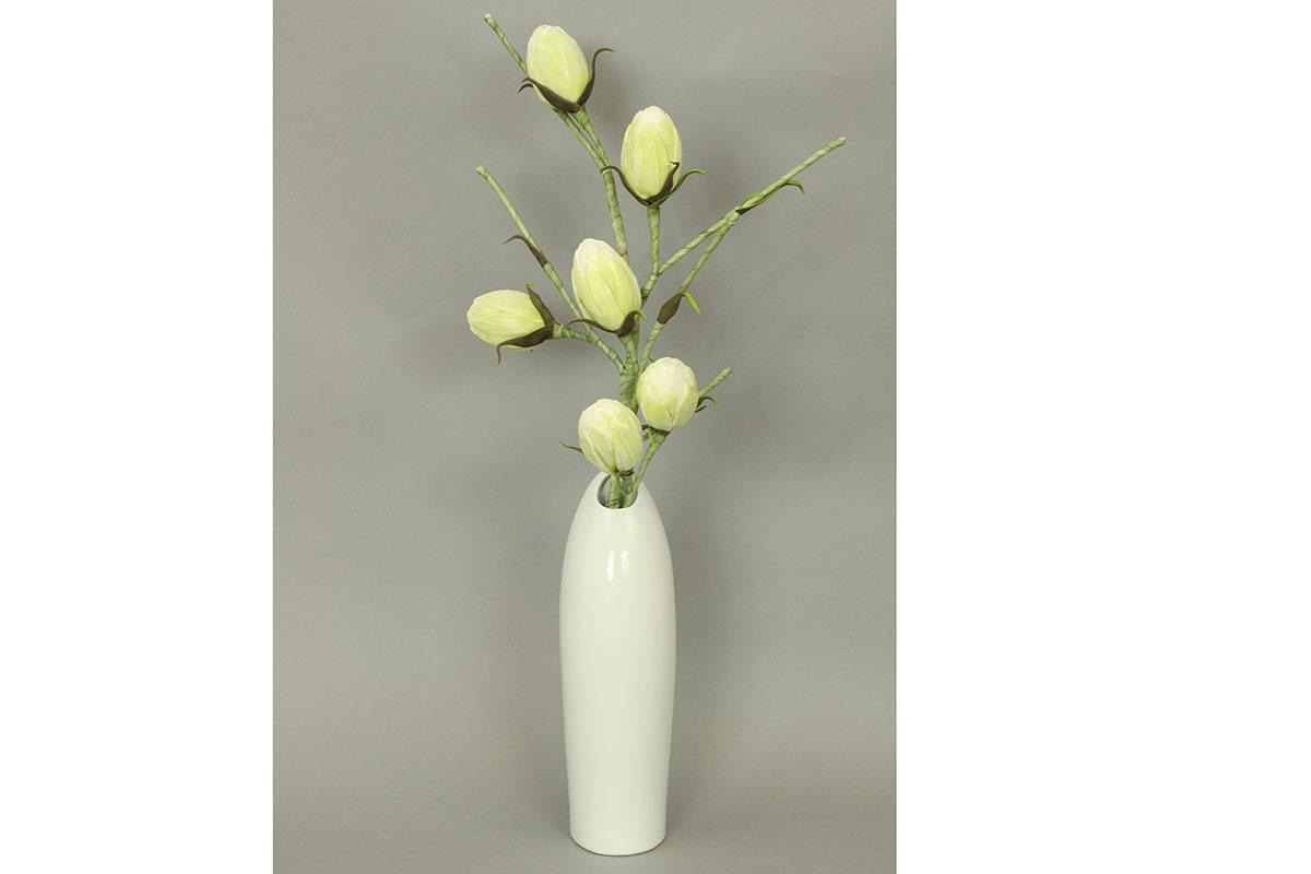 Autronic - Váza keramická bílá - HL708405