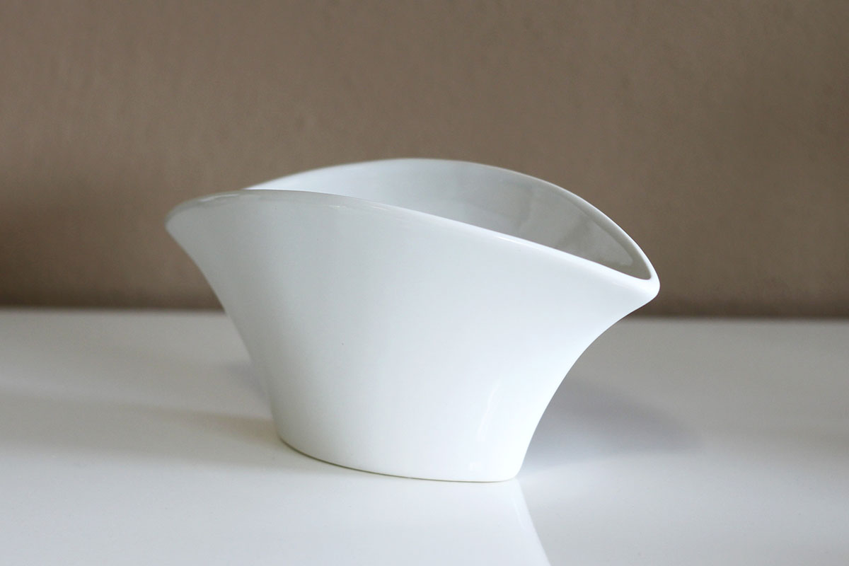 Autronic - Mísa keramická dekorační - bílá barva. - HL747107
